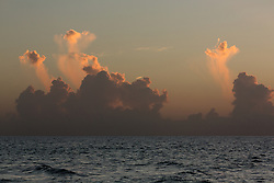 Amazing cloud formations over the ocean at sunrise in Florida