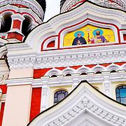 Facede of Orthodox church of Tallin