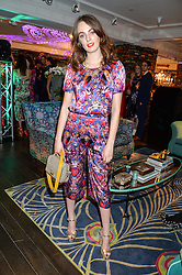 LADY VIOLET MANNERS at the Duresta For Matthew Williamson Exclusive Launch At Harrods, Knightsbridge, London on 10th March 2016.