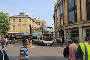 Buses in city centre, Oxford, England, UK