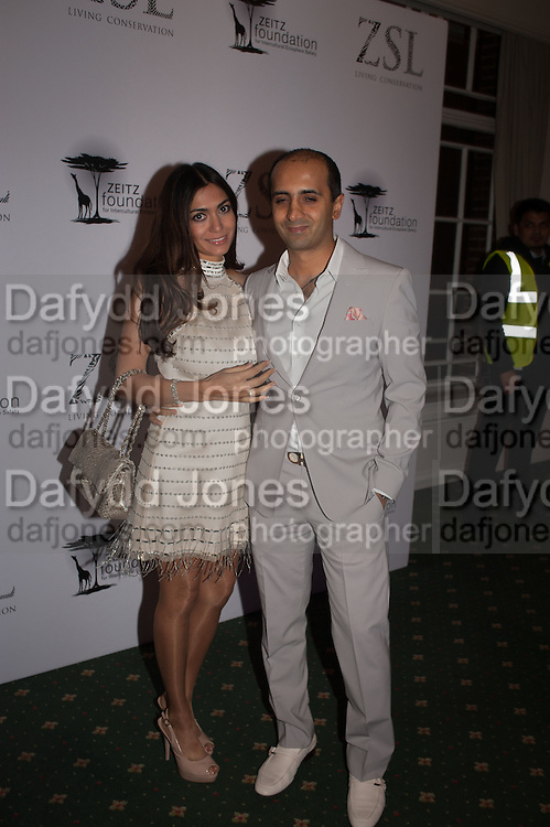 TEJ LALVANI; TARA LALVANI, Fundraising Gala for the Zeitz foundation and Zoological Society of London hosted by Usain Bolt. . London Zoo. Regent's Park. London. 22 November 2012.