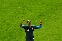 SAINT PETERSBURG, RUSSIA - JULY 10: Paul Pogba of France national team celebrates victory during the 2018 FIFA World Cup Russia Semi Final match between France and Belgium at Saint Petersburg Stadium on July 10, 2018 in Saint Petersburg, Russia. MB Media