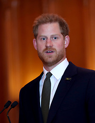 The Duke of Sussex speaks during a reception to celebrate the fifth anniversary of the Invictus Games at the Guildhall in central London.