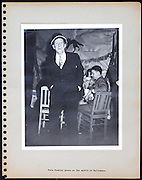 page from a photo album celebrating Halloween USA 1946