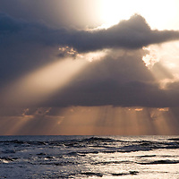 The sun rises over the Caribbean from a beach in Puerto Viejo de Talamanca, Costa Rica, on April 2, 2009.  (Photo/Billy Byrne Drumm)