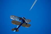 1932 Waco UBF-2 at 2015 WAAAM in flight.