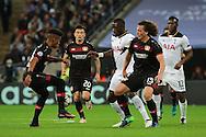 Tottenham Hostpur midfielder Moussa Sissoko (17) battles for the ball in the box during the Champions League match between Tottenham Hotspur and Bayer Leverkusen at Wembley Stadium, London, England on 2 November 2016. Photo by Matthew Redman.