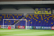 Safe standing behind the goal of New Plough Lane during the EFL Trophy match between AFC Wimbledon and U21 Arsenal at Plough Lane, London, United Kingdom on 8 December 2020.