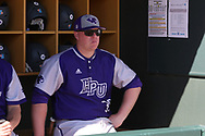 CHAPEL HILL, NC - FEBRUARY 27: High Point assistant coach Rick Marlin. The University of North Carolina Tar heels hosted the High Point University Panthers on February 27, 2018, at Boshamer Stadium in Chapel Hill, NC in a Division I College Baseball game. UNC won the game 10-0.