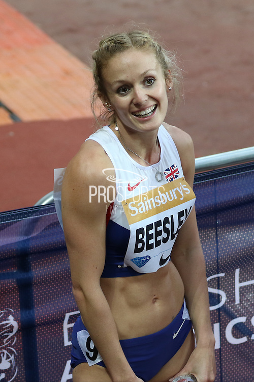 Meghan Beesley of Great Britain during the Sainsbury's Anniversary Games at the Queen Elizabeth II Olympic Park, London, United Kingdom on 24 July 2015. Photo by Ellie Hoad.
