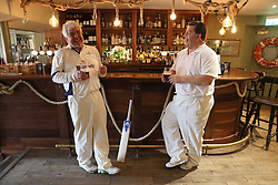 Embargoed to 0001 Monday August 28 Players relax in the bar after a match between the Ship Inn Cricket Club and the Eccentric Flamingoes Cricket Club on Sunday April 30th, 2017, in front of the pub in Elie, Fife, which is the only one in Britain to have a cricket team with a pitch on the beach. The Ship Inn Cricket Club season runs from May to September with dates of matches dependent on the tides. Any Batsman who hits a six which lands in the Ship Inn beer garden wins their height in beer and any spectator who catches a six in the beer garden also wins their height in beer.