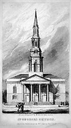 ST. GEORGE'S CHURCH, Front Elevation From the guide book ' The new picture of Dublin : or Stranger's guide through the Irish metropolis, containing a description of every public and private building worthy of notice ' by Hardy, Philip Dixon, 1794-1875. Published in Dublin in 1831 by W. Curry.