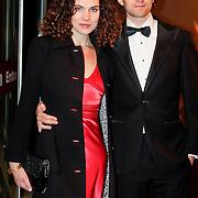 NLD/Amsterdam/20111017 - Premiere De Heineken Ontvoering, Anna Drijver en partner Benja Bruijning