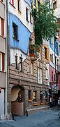 Facade of the Hundertwasserhaus, Vienna, Austria