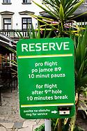 18-09-2015: Golf & Spa Resort Konopiste in Benesov, Tsjechië.<br /> Foto: Even pauze na negen holes
