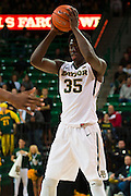 WACO, TX - DECEMBER 9: Johnathan Motley #35 of the Baylor Bears brings the ball up court against the Texas A&M Aggies on December 9, 2014 at the Ferrell Center in Waco, Texas.  (Photo by Cooper Neill/Getty Images) *** Local Caption *** Johnathan Motley