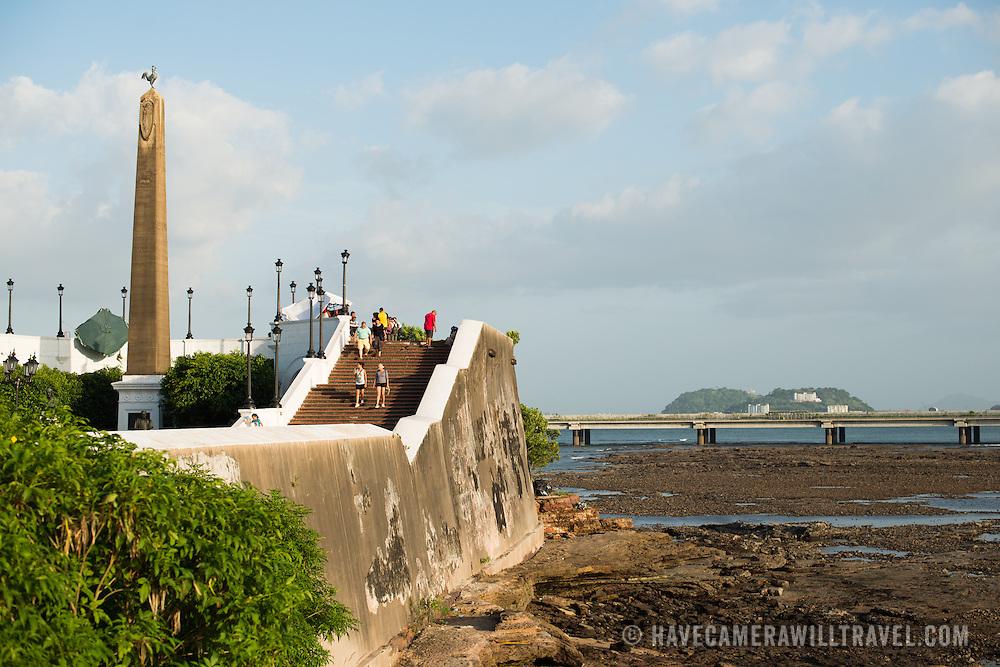 on the waterfront of Panama City, Panama, on Panama Bay.