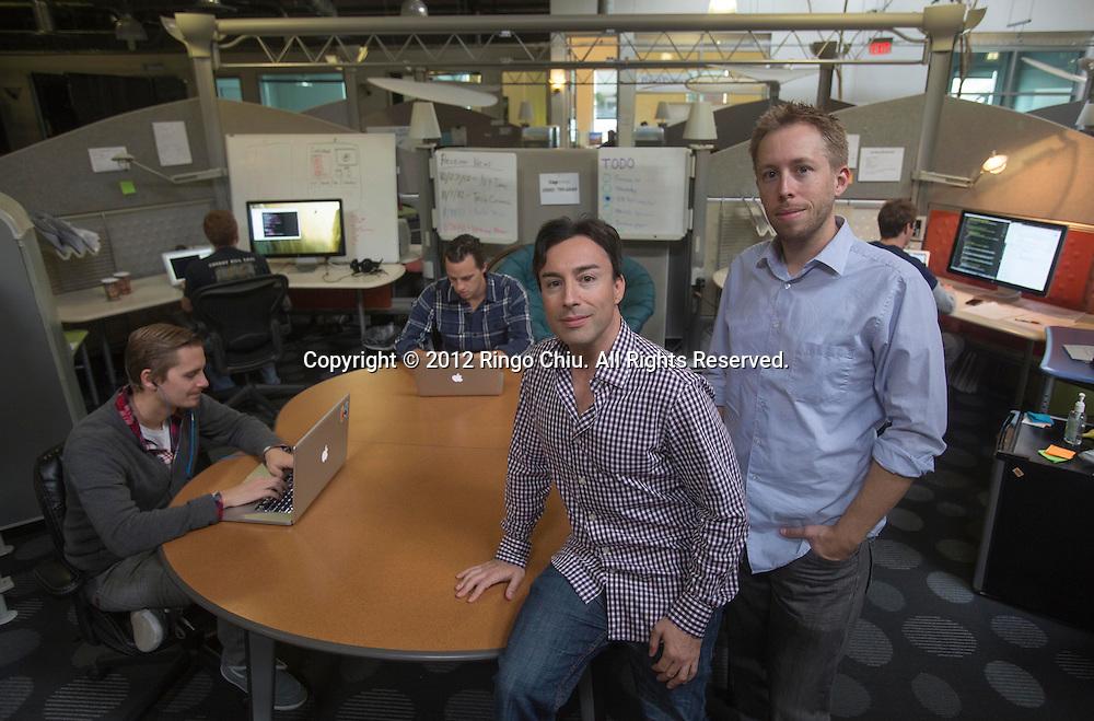 Eric Jackson (R) and Chris Grey, co-founders of Caplinked. .(Photo by Ringo Chiu/PHOTOFORMULA.com).