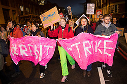 © Licensed to London News Pictures. 16/01/2018. London, UK. Demonstrators campaign for an increase in social housing and protest against Southwark Council for knocking down social housing in south London. The march started at Elephant and Castle and ended and Southwark Council offices in London Bridge, where there is a council meeting tonight. Photo credit : Tom Nicholson/LNP