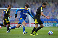 AFC Wimbledon attacker Ryan Longman (29) battles for possession during the EFL Sky Bet League 1 match between AFC Wimbledon and Bristol Rovers at Plough Lane, London, United Kingdom on 5 December 2020.