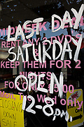 A closed DVD rental shop in south London has gone bust, a victim of the UK's economic climate. Around a recession-bled Britain, high-street businesses have been going bust in their thousands. Britain has now endured eight recessions since the Second World War. No two recessions are alike, and that applies to the current slowdown also. It has been caused by a shock to the availability of credit, a massive build up of debt. The number of people out of work currently stands at almost two million. Given the rate at which the economy is deteriorating this could easily be above three million. From a continuing piece of work about windows and urban messages, the picture is from the project of closed business windows: 'Bust - the Art of Recession'.