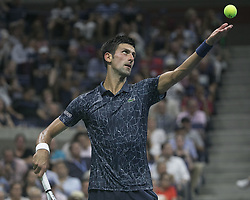 September 5, 2018 - Flushing Meadows, New York, U.S - Novack Djokovic during his match against John Millman on Day 10 of the 2018 US Open at USTA Billie Jean King National Tennis Center on Wednesday September 5, 2018 in the Flushing neighborhood of the Queens borough of New York City. Novack Djokovic defeats Millman, 6-3, 6-4, 6-4. (Credit Image: © Prensa Internacional via ZUMA Wire)