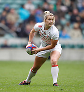 Picture by Andrew Tobin/Tobinators Ltd +44 7710 761829.12/05/2013.Rachel Burford in action for England as they beat Australia 36-7 in the womens final during the Emirates London 7s at Twickenham Stadium, Twickenham.