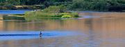 Fisherman on the Missour River near Cascade.