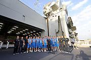 TARANTO, 13/07/2012<br /> PORTAEREI CAVOUR<br /> NAZIONALE ITALIANA MASCHILE UNDER 18<br /> AMICHEVOLE<br /> ITALIA - SVEZIA<br /> FOTO CIAMILLO