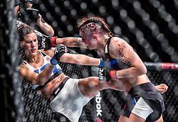 Joanne Calderwood beats LCortney Casey-Sanchez, at the UFC Glasgow on Saturday, July 18 at The SSE Hydro, Glasgow. The UFC Fight Night 72 event was the first the promotion had been hosted in Scotland.