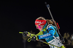 February 12, 2018 - Pyeongchang, Gangwon, South Korea - Anja Erzen of Slovenia competing at Women's 10km Pursuit, Biathlon, at olympics at Alpensia biathlon stadium, Pyeongchang, South Korea. on February 12, 2018. Ulrik Pedersen/Nurphoto  (Credit Image: © Ulrik Pedersen/NurPhoto via ZUMA Press)