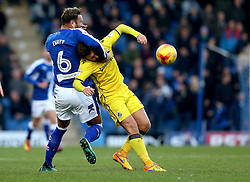 Ian Evatt of Chesterfield fouls Matt Taylor of Bristol Rovers but no free kick is awarded - Mandatory by-line: Robbie Stephenson/JMP - 26/11/2016 - FOOTBALL - The Proact Stadium - Chesterfield, England - Chesterfield v Bristol Rovers - Sky Bet League One