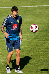 July 4, 2018 - Gelendzhik, Russia - 180704 Victor Nilsson LindelÅ¡f of the Swedish national football team at a practice session during the FIFA World Cup on July 4, 2018 in Gelendzhik..Photo: Petter Arvidson / BILDBYRN / kod PA / 92081 (Credit Image: © Petter Arvidson/Bildbyran via ZUMA Press)
