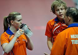 08-05-2011 TAFELTENNIS: WORLD TABLE TENNIS CHAMPIONSHIPS: ROTTERDAM<br /> Koen Hageraats en Britt Eerland NED<br /> ©2011-FotoHoogendoorn.nl