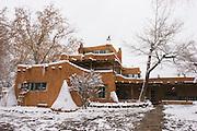 Mabel Dodge Lujan house in winter