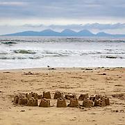 Abandoned sandcastle, Machrihanish Bay, Argyll & Bute, Scotland.