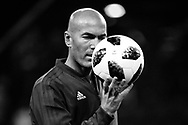 Zinedine Zidane (France 98) at warm up during the 2018 Friendly Game football match between France 98 and FIFA 98 on June 12, 2018 at U Arena in Nanterre near Paris, France - Photo Stephane Allaman / ProSportsImages / DPPI
