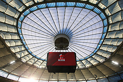 March 9, 2019 - Vancouver, BC, U.S. - VANCOUVER, BC - MARCH 09:  The roof at BC Place as HSBC Rugby Sevens Canada begins on March 9, 2019 at BC Place in Vancouver, British Columbia, Canada. (Photo by Devin Manky/Icon Sportswire) (Credit Image: © Devin Manky/Icon SMI via ZUMA Press)
