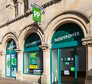 Paddypower bookmaker betting shop chain store in Trowbridge, Wiltshire, England, UK