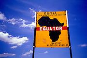 Image of the equator's sign near Nanyuki in Kenya, Africa by Randy Wells