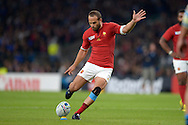 Frederic Michalak of France kicks  a penalty . Rugby World Cup 2015 pool D match, France v Italy at Twickenham Stadium in London on Saturday 19th September 2015.<br /> pic by John Patrick Fletcher, Andrew Orchard sports photography.