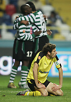 """PORTUGAL - AVEIRO 21 NOVEMBER 2004: RIBEIRO #25, Beira Mar squad captain, after Sporting scored the second goal in the 11¼ leg of the Super Liga, season 2004/2005, match  SC Beira Mar vs Sporting CP (2-2), held in """"Mario Duarte"""" stadium,  21/11/2004  01:28:49<br />(PHOTO BY: NUNO ALEGRIA/AFCD)<br /><br />PORTUGAL OUT, PARTNER COUNTRY ONLY, ARCHIVE OUT, EDITORIAL USE ONLY, CREDIT LINE IS MANDATORY AFCD-PHOTO AGENCY 2004 © ALL RIGHTS RESERVED"""