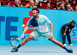 30.10.2016, Stadthalle, Wien, AUT, ATP Tour, Erste Bank Open, Finale, im Bild Jo Wilfried Tsonga (FRA) // Jo Wilfried Tsonga of France during the final match of Erste Bank Open of ATP Tour at the Stadthalle in Vienna, Austria on 2016/10/30. EXPA Pictures © 2016, PhotoCredit: EXPA/ Sebastian Pucher