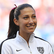 Christen Press, U.S. Women's National Team, during the U.S. Women's National Team Vs Korean Republic, International Soccer Friendly in preparation for the FIFA Women's World Cup Canada 2015. Red Bull Arena, Harrison, New Jersey. USA. 30th May 2015. Photo Tim Clayton