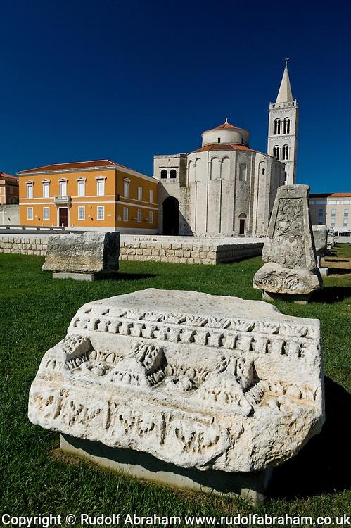 Roman forum and the church of St Donatus (Sv Donat), Zadar, Croatia
