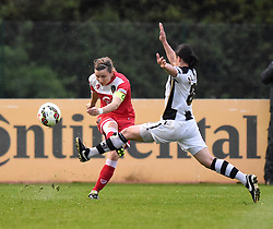 Bristol Academy's Grace McCatty in action during the FA Women's Super League match between Bristol Academy Women and Notts County Ladies FC at Stoke Gifford Stadium on 26 April 2015 in Bristol, England - Photo mandatory by-line: Paul Knight/JMP - Mobile: 07966 386802 - 25/04/2015 - SPORT - Football - Bristol - Stoke Gifford Stadium - Bristol Academy Women v Notts County Ladies FC - FA Women's Super League