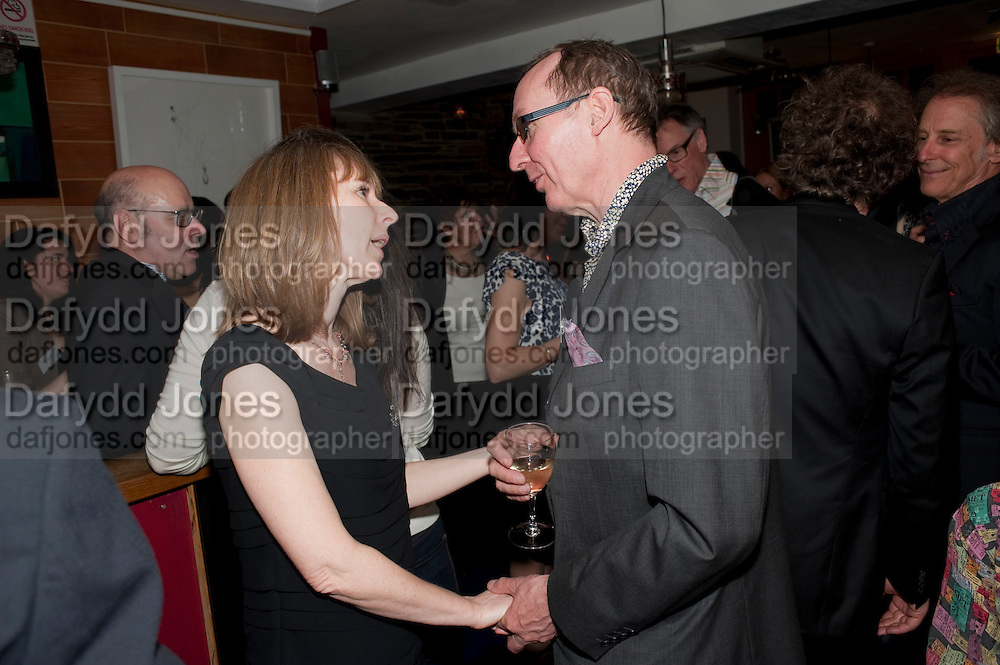 JO JO DAVIS; A.N. WILSON, The Man Booker Best Of Beryl Prize, The Union, 50 Greek Street, London, 19 April 2011. Party celebrates special prize created by the Booker Foundation in honour of the late Beryl Bainbridge who died in July 2010.   -DO NOT ARCHIVE-© Copyright Photograph by Dafydd Jones. 248 Clapham Rd. London SW9 0PZ. Tel 0207 820 0771. www.dafjones.com.