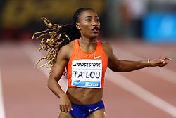 May 31, 2018 - Rome, Italy - Maria-Josee Ta Lou (CIV) competes in 200m women during Golden Gala Iaaf Diamond League Rome 2018 at Olimpico Stadium in Rome, Italy on May 31, 2018. (Credit Image: © Matteo Ciambelli/NurPhoto via ZUMA Press)