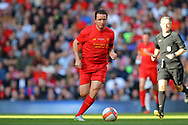 Vladimir Smicer of Liverpool legends team in action. Liverpool Legends  v Real Madrid Legends, Charity match for the LFC Foundation at the Anfield stadium in Liverpool, Merseyside on Saturday 25th March 2017.<br /> pic by Chris Stading, Andrew Orchard sports photography.