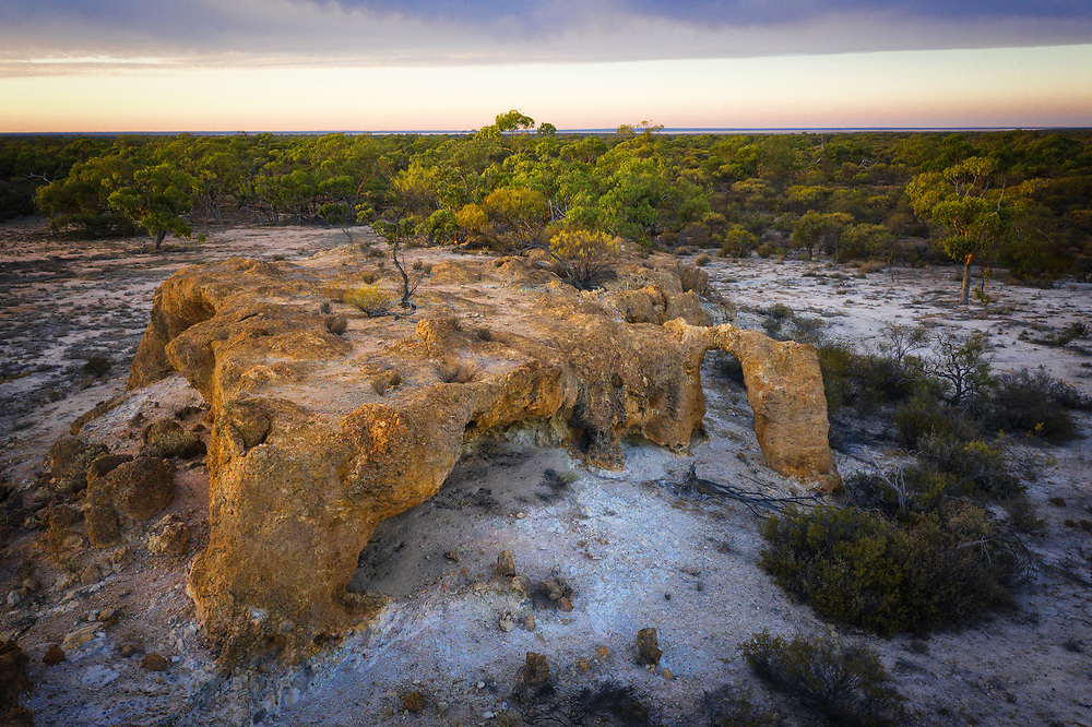 Common rock in the breakaway in Western Australia